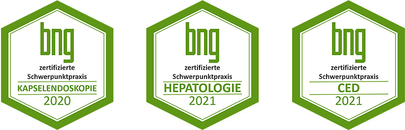 Zertifikate der Praxis für Gastroenterologie und Kardiologie Dr. Rösler und Dr. Lachmann in Bayreuth